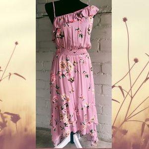 Host Pick🌸✨🎉 Boho Peasant Ruffled Floral Dress L